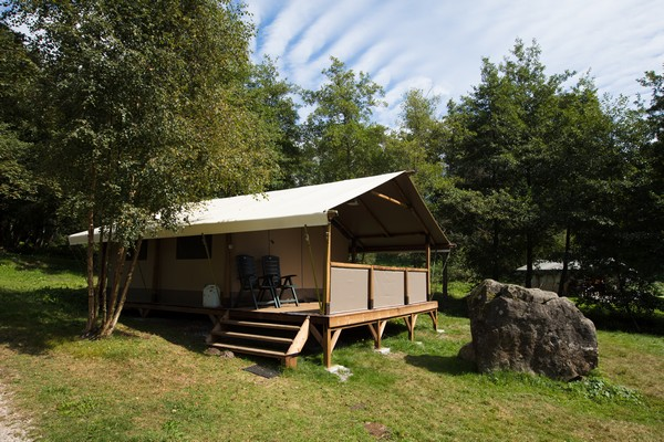 Camping Fougeraie (Nièvre,Morvan) : Tente lodge Nature camping Fougeraie