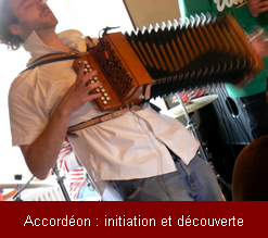 Initiation is discovered by the diatonic accordion